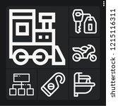 set of 6 steel outline icons... | Shutterstock .eps vector #1215116311