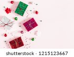 christmas composition.... | Shutterstock . vector #1215123667