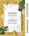 banner with vector christmas...   Shutterstock .eps vector #1215126181