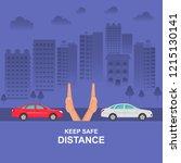 hands up the distances...   Shutterstock .eps vector #1215130141