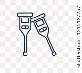 crutches vector outline icon... | Shutterstock .eps vector #1215137257