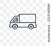 lorry side view vector outline...   Shutterstock .eps vector #1215140584