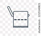tissue paper vector outline... | Shutterstock .eps vector #1215140821