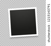 realistic photo frame isolated...   Shutterstock .eps vector #1215143791