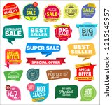 modern labels badges and tags... | Shutterstock .eps vector #1215145957