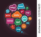 collection of acronyms and... | Shutterstock .eps vector #121514635