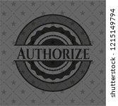 authorize dark badge | Shutterstock .eps vector #1215149794