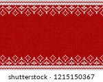 knitted textile pattern. vector ... | Shutterstock .eps vector #1215150367