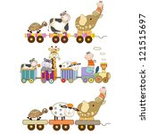 funny toys train set isolated... | Shutterstock .eps vector #121515697