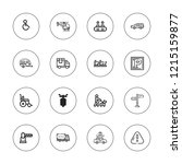 traffic icon set. collection of ... | Shutterstock .eps vector #1215159877