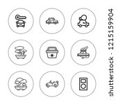 mini icon set. collection of 9...