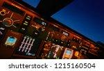 Boeing 747 Cockpit Close Up Of...