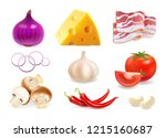 set of vector spices isolated.... | Shutterstock .eps vector #1215160687