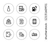petrol icon set. collection of... | Shutterstock .eps vector #1215160951