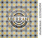 aberrant arabesque badge.... | Shutterstock .eps vector #1215162454