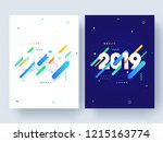 set of template or flyer design ... | Shutterstock .eps vector #1215163774