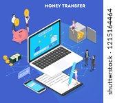 money transaction concept.... | Shutterstock .eps vector #1215164464