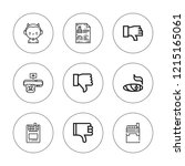 bad icon set. collection of 9... | Shutterstock .eps vector #1215165061