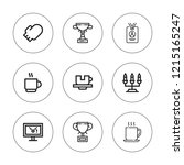 holder icon set. collection of...   Shutterstock .eps vector #1215165247