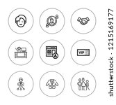 member icon set. collection of... | Shutterstock .eps vector #1215169177