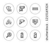 privacy icon set. collection of ... | Shutterstock .eps vector #1215169324