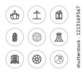 recreational icon set.... | Shutterstock .eps vector #1215169567