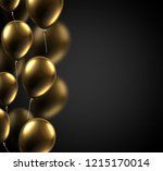 black festive card with golden... | Shutterstock .eps vector #1215170014