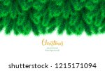 detailed wide christmas garland.... | Shutterstock .eps vector #1215171094