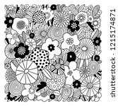 crazy abstract floral...   Shutterstock .eps vector #1215174871
