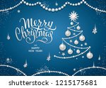 merry christmas greeting card...   Shutterstock .eps vector #1215175681