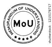 grunge black mou  abbreviation... | Shutterstock .eps vector #1215178717