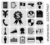 set of 22 business icons or... | Shutterstock .eps vector #1215179467