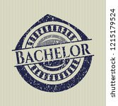blue bachelor distressed rubber ... | Shutterstock .eps vector #1215179524