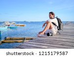 photography and travel. young... | Shutterstock . vector #1215179587