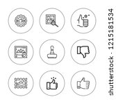 approve icon set. collection of ... | Shutterstock .eps vector #1215181534