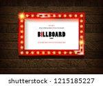 retro cinema bulb sign shape  ...   Shutterstock .eps vector #1215185227