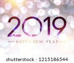blurred shiny happy new year... | Shutterstock .eps vector #1215186544
