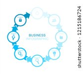 blue business infographics with ... | Shutterstock .eps vector #1215186724