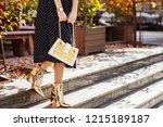 street fashion details  elegant ... | Shutterstock . vector #1215189187