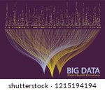 big data statistical analysis... | Shutterstock .eps vector #1215194194