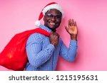 african american man wearing...   Shutterstock . vector #1215195631