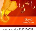 happy diwali wallpaper design...   Shutterstock .eps vector #1215196051