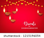 happy diwali wallpaper design... | Shutterstock .eps vector #1215196054