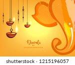 happy diwali wallpaper design...   Shutterstock .eps vector #1215196057