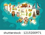 bali map vector. abstract atlas ...   Shutterstock .eps vector #1215200971
