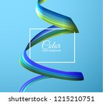 3d colorful paint watercolor... | Shutterstock .eps vector #1215210751