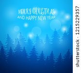 winter background with fir...   Shutterstock .eps vector #1215229357