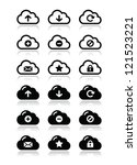 cloud vector icons set for web | Shutterstock .eps vector #121523221