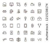 device flat icon set . single...   Shutterstock .eps vector #1215238174