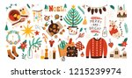 collection of christmas... | Shutterstock .eps vector #1215239974